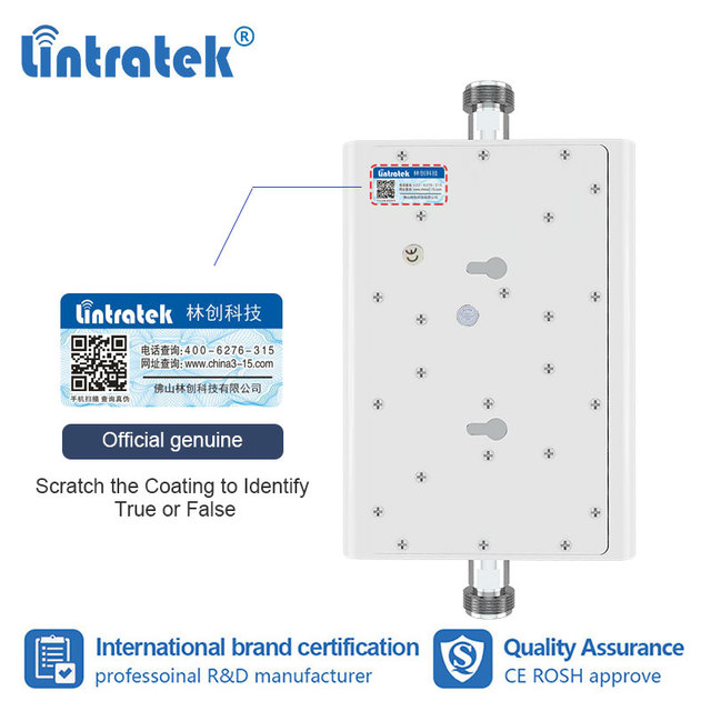 Lintratek 900 1800 2G 4G dual band 70dB ripetitore cellulare ripetitore del segnale GSM 900mhz DCS LTE 4G 1800mhz amplificatore 15M kit AGC s8