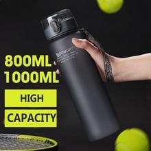 Water Bottle 800ML 1000ML Plastic Drinkware Outdoor Sports School Leakproof Seal Hiking Climbing Travel Portable Bottles