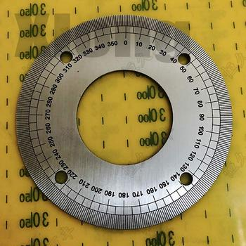 цена на Outer Diameter: 90mm Dial 360 Degree Stainless Steel Plate Indexing Plate Stainless Steel Angle Plate 90 # 40 # 2 # 5 # 71