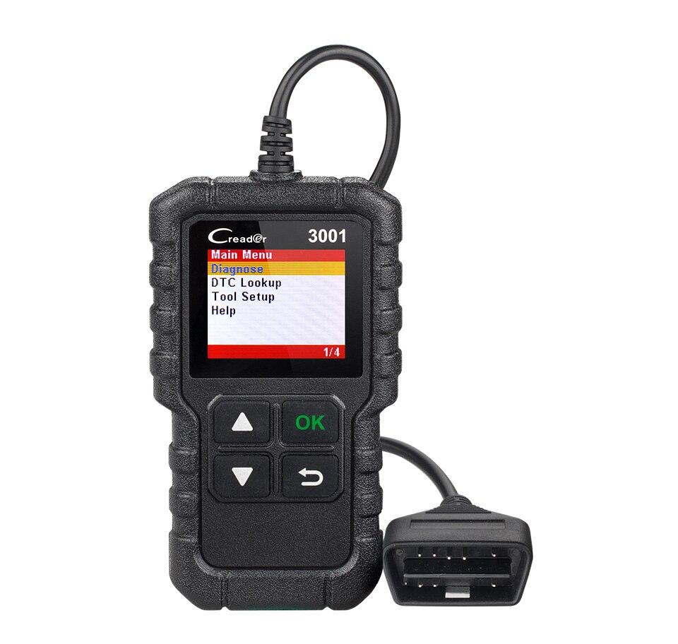 Lançamento X431 CR3001 obd2 Auto Ferramenta de Diagnóstico OBDII Motor Code Reader elm327 v1.5 odb2 Car Automotive Scanner Creader 3001 PK