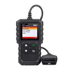 Uruchomienie X431 CR3001 obd2 Auto narzędzie diagnostyczne OBDII czytnik kodów silnika odb2 samochodowych skaner samochodowy Creader 3001 PK elm327 v1.5