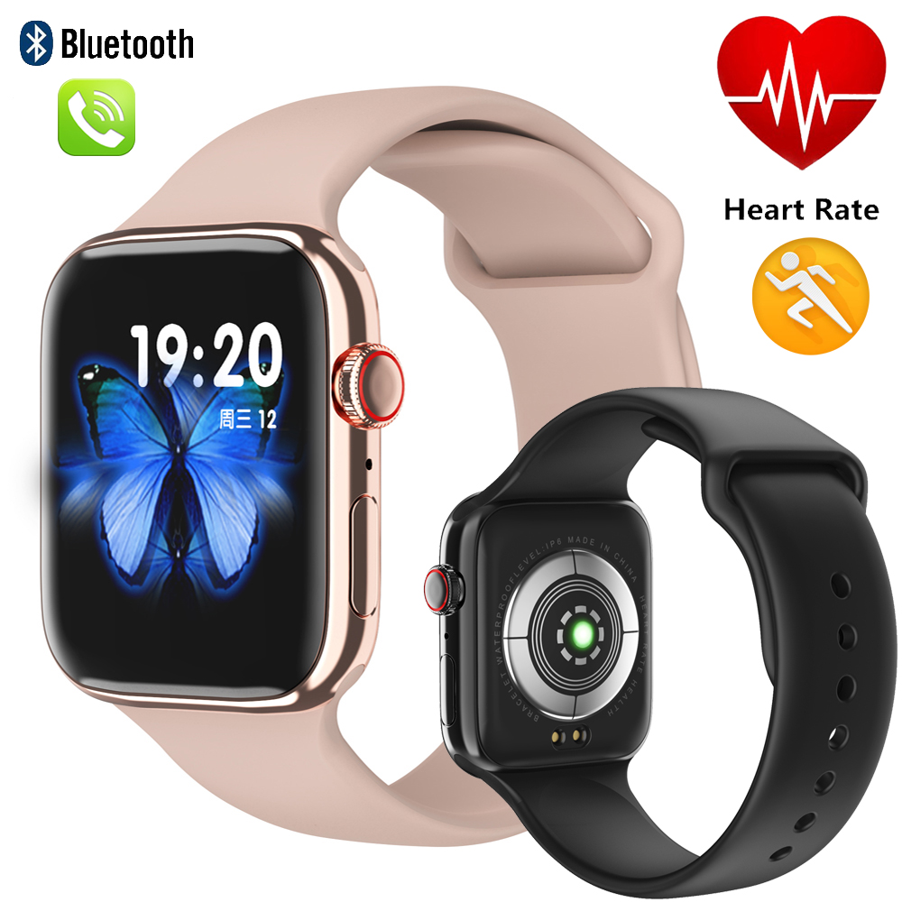 IWO Smart Watch Men Woman Heart Rate Monitor Call Message Reminder F18 smartwatch 1:1 Watch 5 Support BT call For Android IOS image