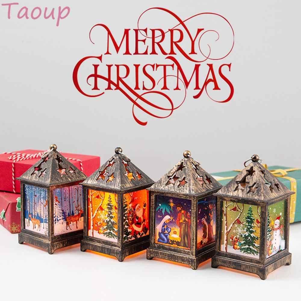 Taoup Frohe Weihnachten Led-leuchten Anhänger Drop Ornamente Weihnachten Tisch Dekoration für Home Weihnachten Santa Claus Lichter Schneemann Neue