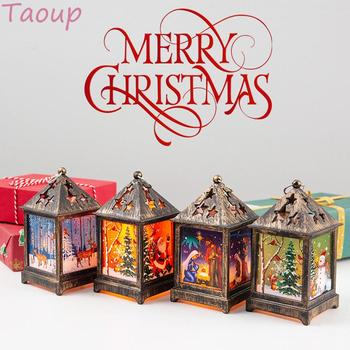 Taoup Merry Christmas LED Lights Pendants Drop Ornaments Christmas Table Decoration for Home Xmas Santa Claus Lights Snowman New merry christmas decoration banner christmas tree ornaments xmas santa claus pendant christmas gift new year decoration for home
