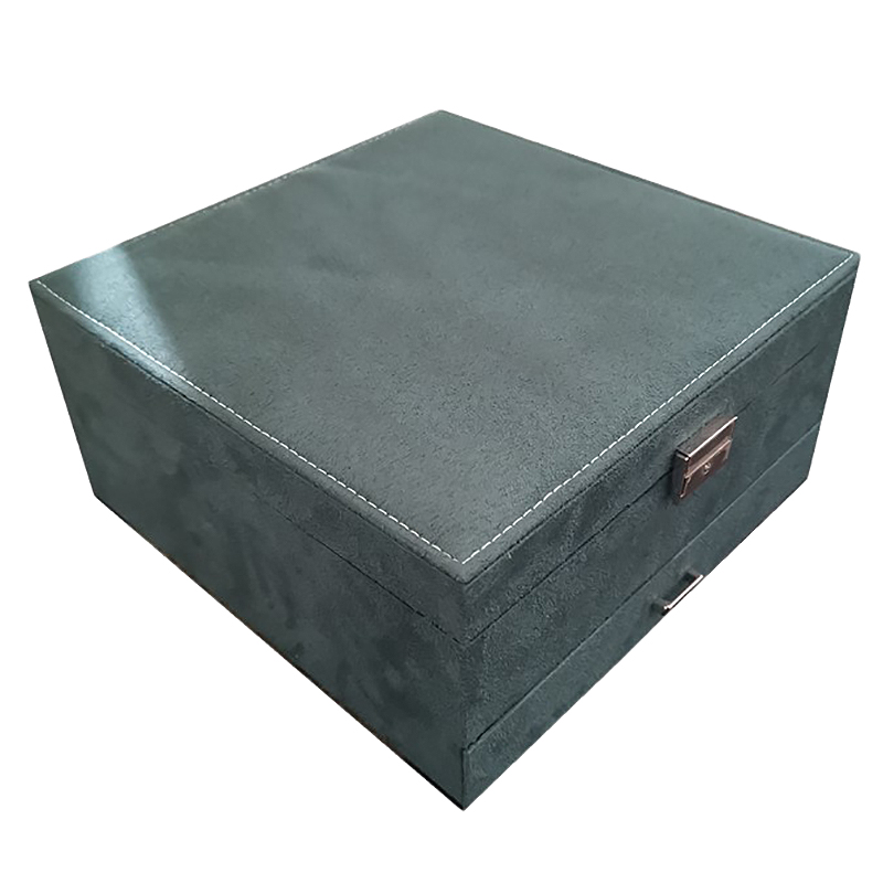 Large Capacity Jewelry Box Multilayer Ring Necklace Etc. Organizer Case With Drawer / Lock Women Wedding Birthday Gift
