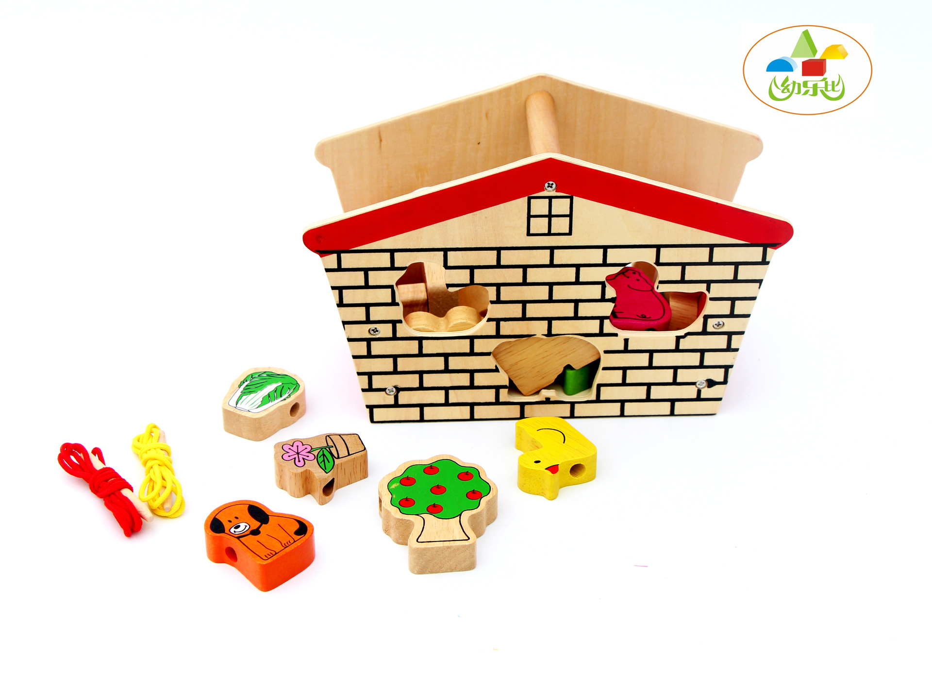 Long-term Color & Vegetable Farm Bead Toy Environmentally Friendly Wood Infant Educational Bead Toy