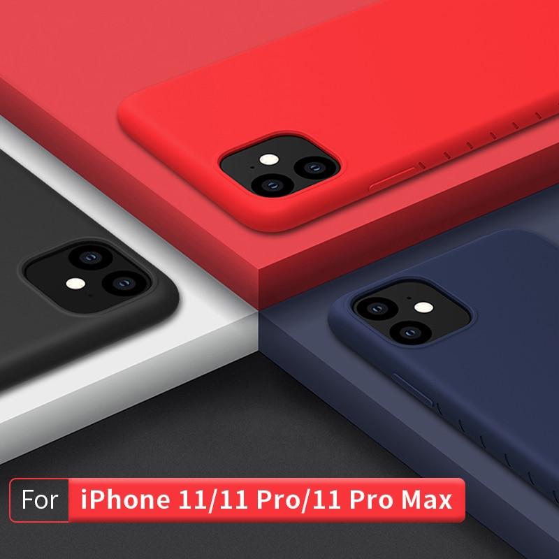 NILLKIN Para iPhone 11 Pro caso capa Protetora de Silicone Suave Tampa Traseira para o iphone caso para iPhone 11 11 Pro max 6.5/6.1/5.8