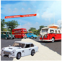 CITY Technic Creator Expert UK London Bus Classic racing Car Beetle T1 Camper bricks 10258 10262 10252 10242 building blocks toy
