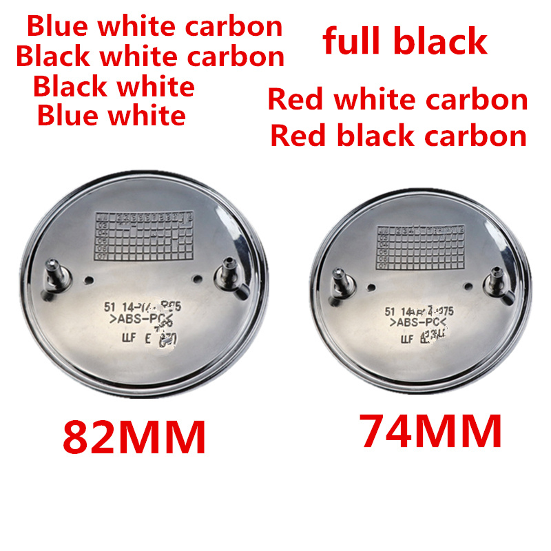 74mm 82mm Car Front Hood Rear Trunk Emblem Badge Cover 2 Pins Fit For E46 E39 E38 E90 E60 Z3 Z4 X3 X5 X6 1PCS