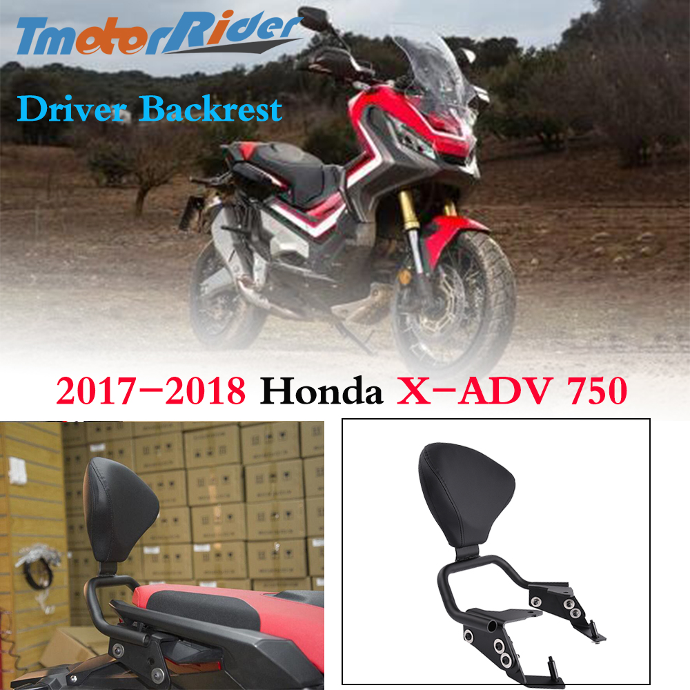 Motorcycle XADV750 Accessories Seat Passenger Backrest Support Sissy Bar Rest Pad For Scooter Honda X-ADV750 XADV 750 2017-2018
