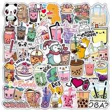 10/30/50PCS Cute Cartoon Pearl Milk Tea Girl Stickers Pack Aesthetic Luggage Laptop Guitar Phone Stationery Sticker Kids Toy