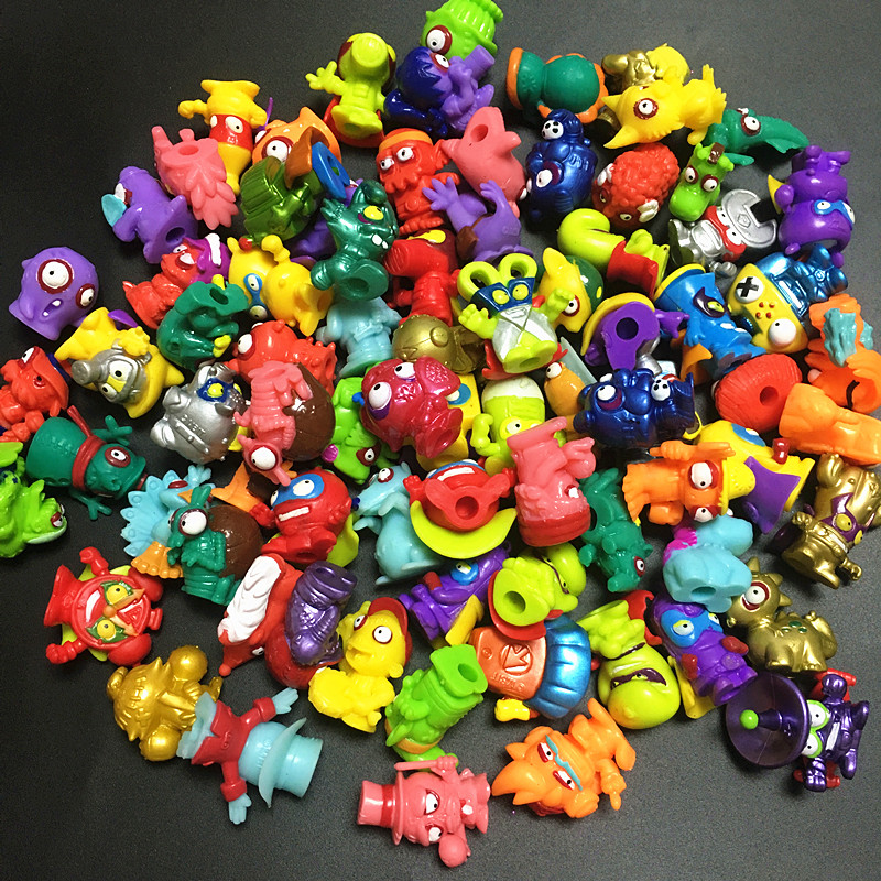 50-100pcs Superzings Zomlings Action Figures Dolls 3CM Super Zings Garbage Collection Toys Model For Kids Playing Gift
