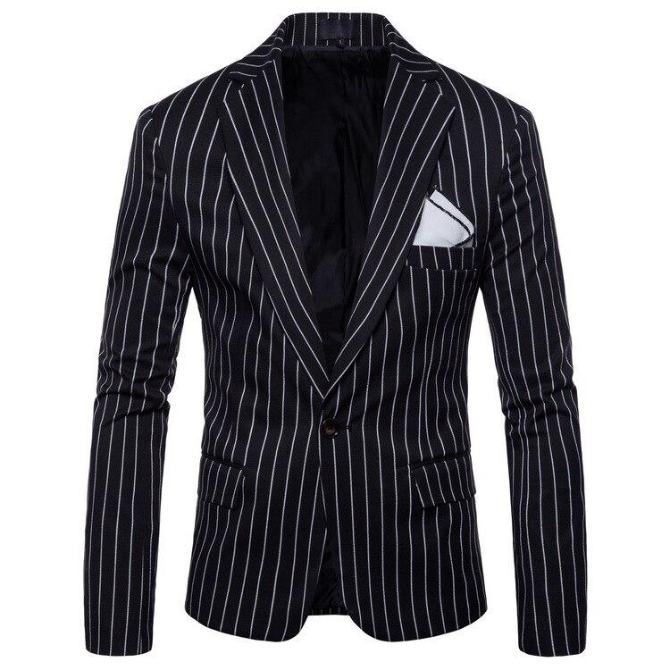 Fashion Mens Korean Slim Fit Cotton Casual Blazer Suit Jacket Plus Size M-4XL Male Formal Business Blazers Mens Coat Wedding