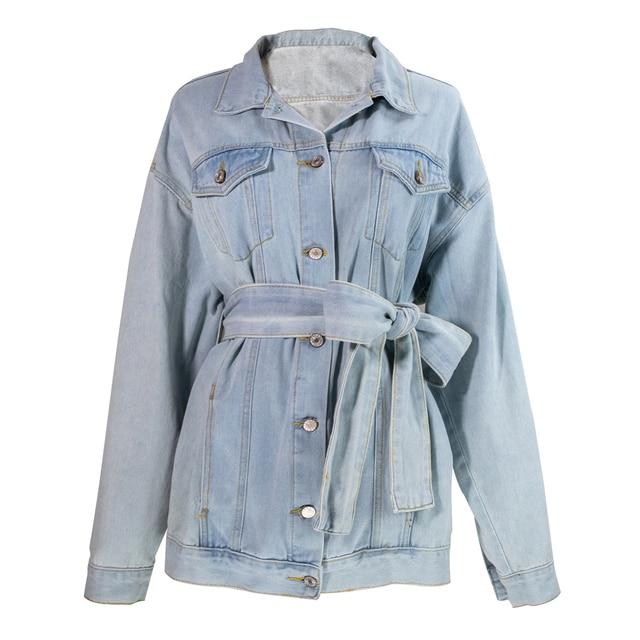 Denim Sashes Lace Up Jacket 6