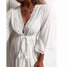 JULYS SONG сексуальная ночная рубашка с вышивкой, атласный кружевной банный халат, идеальный свадебный вечерний халат, ночная рубашка для женщин