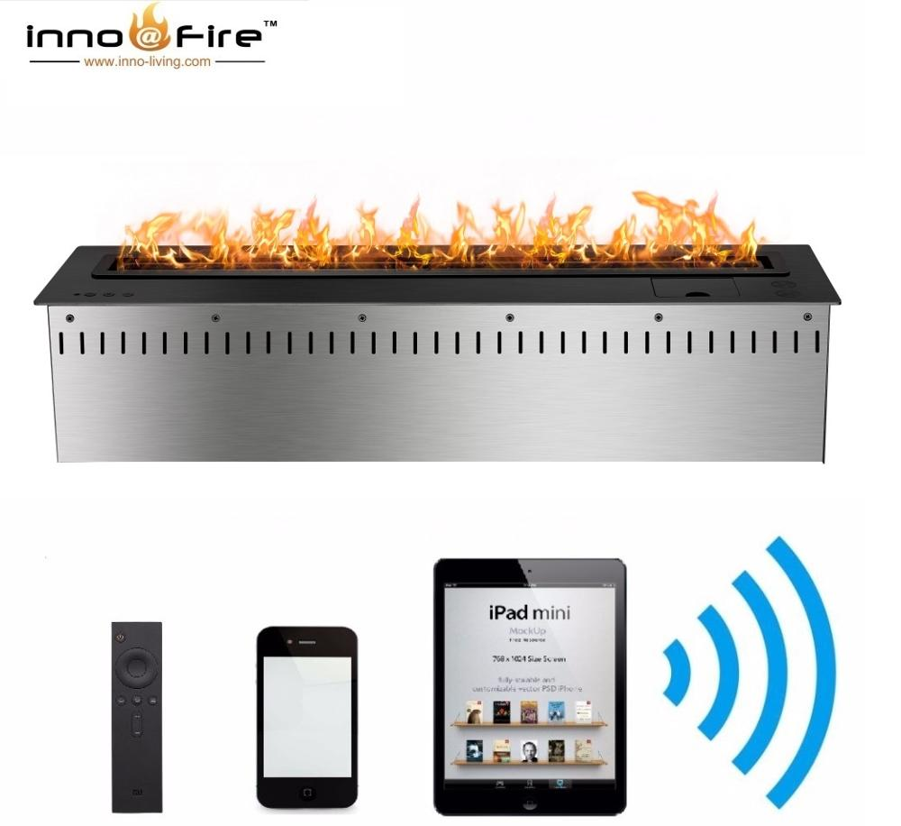 Hot Sale 30 Inches Indoor Gel Fireplaces Wifi Remote Ethanol Burner Insert