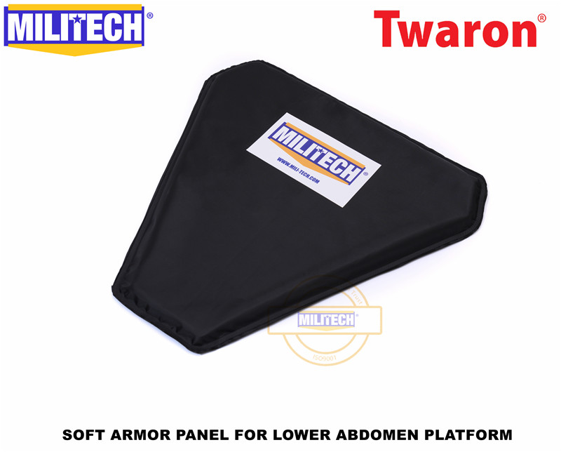 MILITECH LAP Aramid Ballistic Panel Bulletproof Plate Soft Armour NIJ IIIA 3A 0101.06 & NIJ 0101.07 HG2 Groin Protection Panel