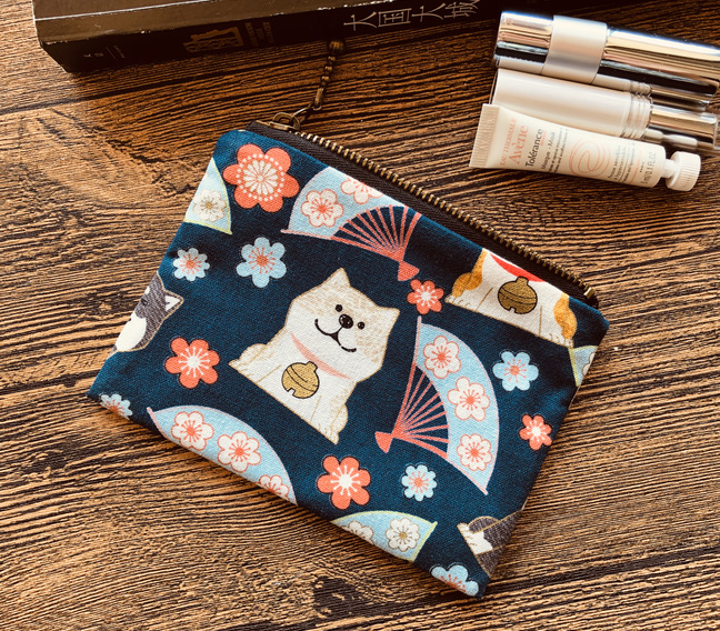 Japanese Style And Wind Zipper Cute Wallet Coin Pocket Wallet Headphone Cable Storage Key Meng Shiba Inu Small