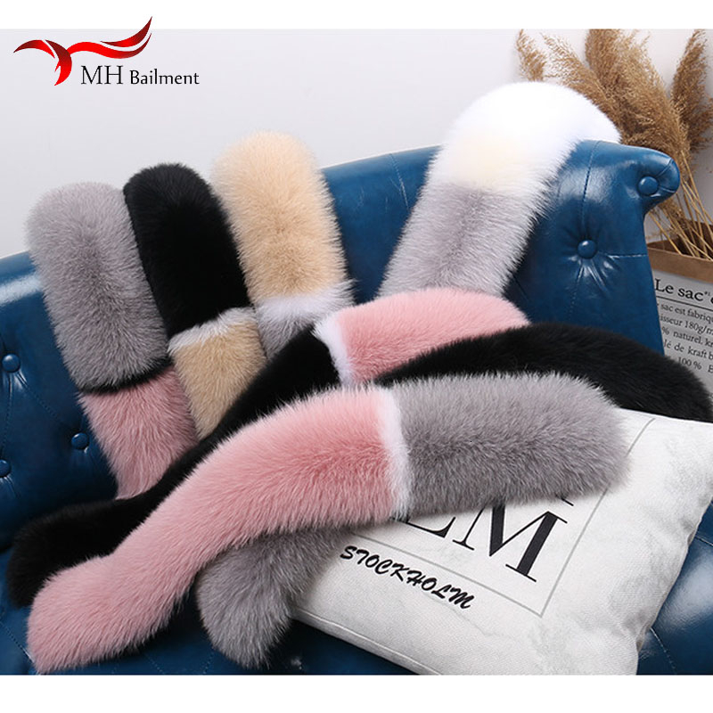And Quiet Home Leather And Fur Scarf Fox Wool Collar Scarf Really Hair Spelling Color Woman Baby Scarf Neck Set Fox Baby Lead