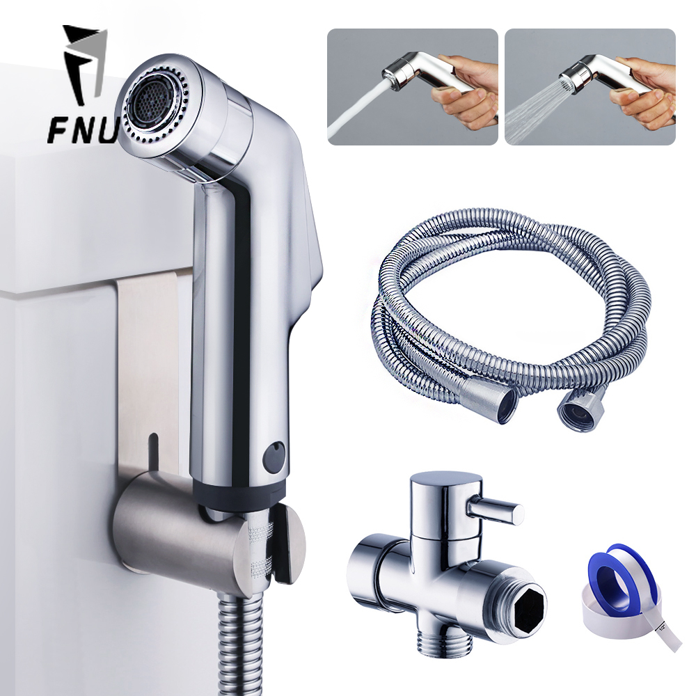2 Ways Wash Toilet Seat Hand Held Shower Head Bidet Sprayerfaucet Muslim Shower