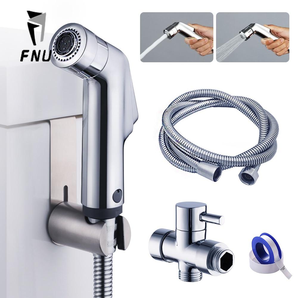 2 Ways Wash Toilet Seat Hand Held Shower Head Bidet Sprayerfaucet Muslim Shower