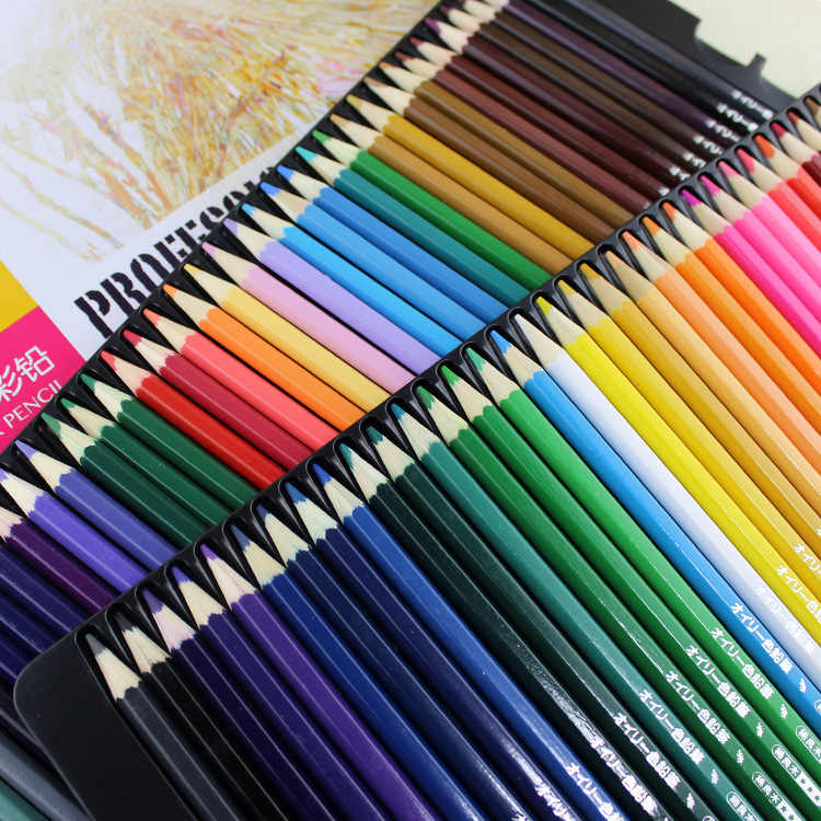 72 lápices de color lapisón profesional conjunto de acuarela lápices prismacolor para dibujar lápices de colores para niños
