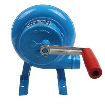 80 W Metalen Industriële Outdoor Barbecue Ijzer Gear Hand Crank Blower Hand Fan Manual Brand Blower Popcorn Fan Blauw Model