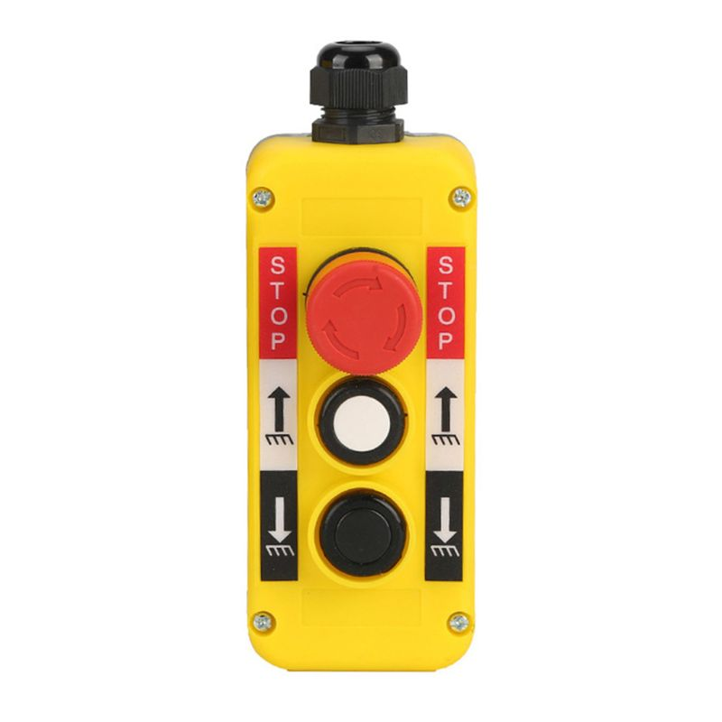 Waterproof Industrial Push Button Switch Emergency Stop for Electric Crane <font><b>Hoist</b></font> Pendant <font><b>Control</b></font> Station image