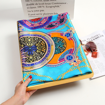Women 100% Natural Silk Square Scarf Print Bufanda Headscarf Large Bandana Pure Neckerchief For Ladies Echarpe 88x88cm