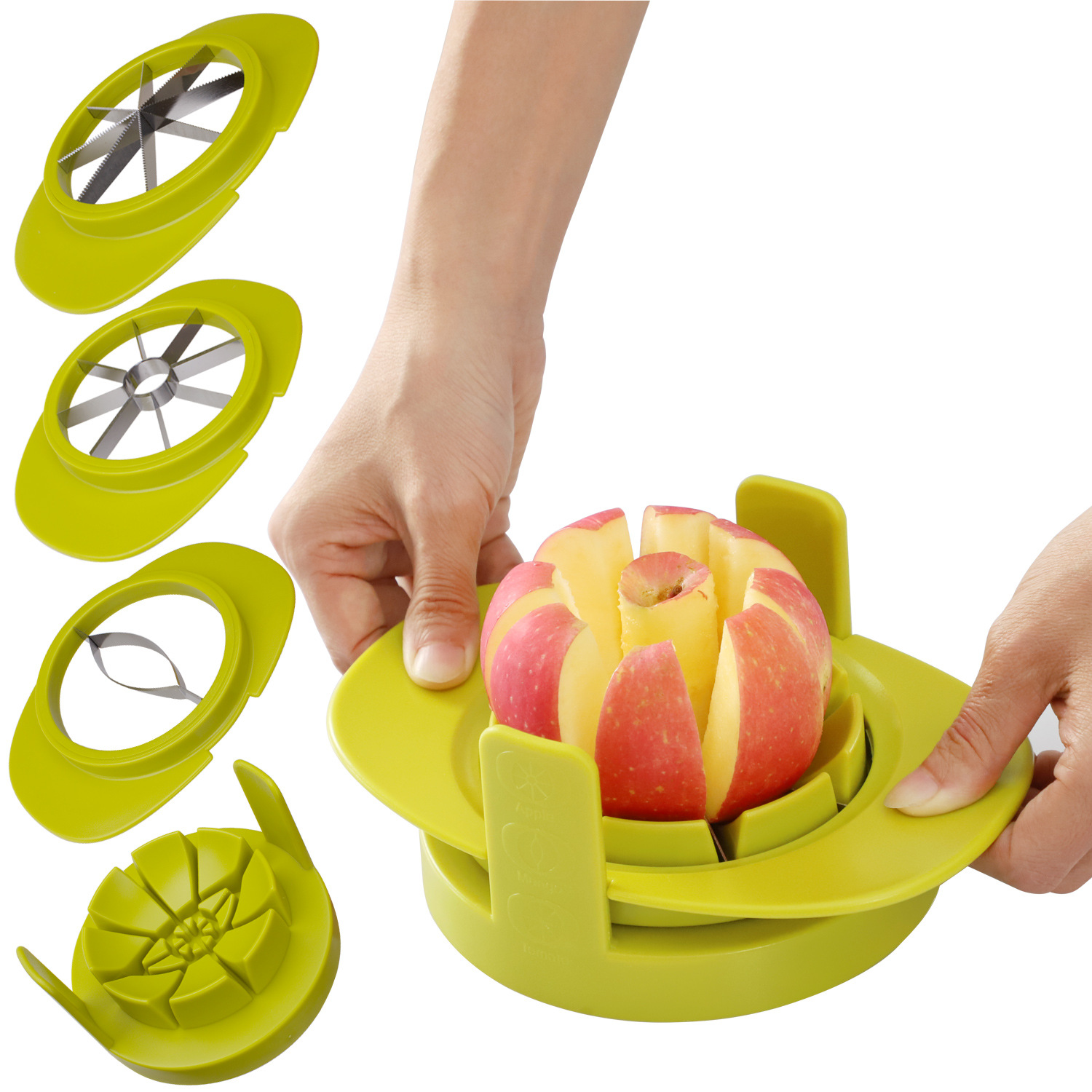 4pcs Apple Cutter Mango Splitters Avocado Fruit Slicer Corer Pear Cutters Knife Peeler Cut Tool