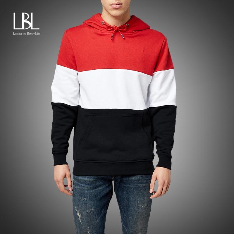 Fashion Brand Men's Hoodies 2020 Spring Autumn Male Casual Hoodies Sweatshirts Men's Patchwork Color Hoodies Sweatshirt Tops