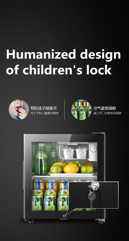 냉장고 90L мини одна дверь холодильник супер емкость ледяной бар холодильное микро замораживания офиса отель бытовой изысканный 220V 5