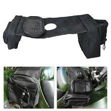 цены Motorcycle ATV Bag Tank Bags SaddleBag Mobile Fuel Tank Cup Holder For UTV Yamaha Kawasaki Bike Bag Ski 600D Oxford cloth
