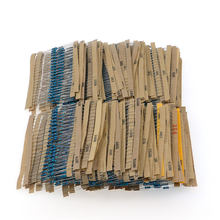 3120pcs 1% 1/4W Metal Film Resistor Kit 156 Value 1R-10M Ohm Component Pack