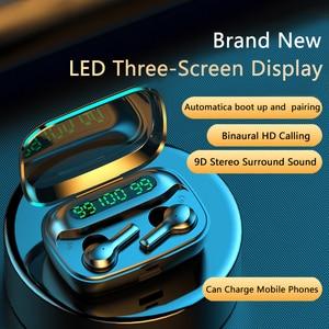 Image 2 - soleeanre Bluetooth Earphone 5.1 TWS Wireless Earphones LED with Microphone Waterproof Noise Cancel Headset Earbuds 2000mah