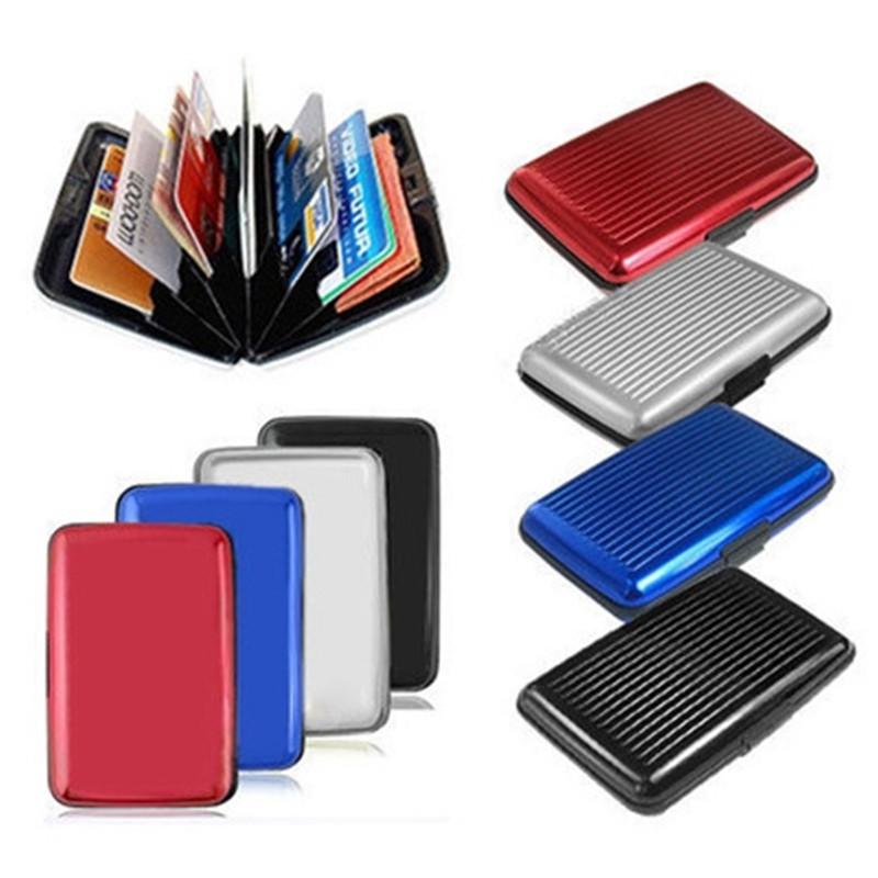 Aluminum Metal Bankcard Blocking Hard Case Wallet Credit Card Anti-RFID Scanning Protect Holder Carteira Feminina Masculina