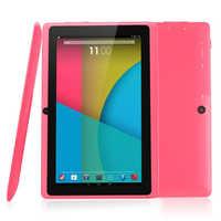 Barato 7 pulgadas Tablet PC Q88 PRO Allwinner A33 Tablet Quad core 512MB + 8GB Android 4,4*1024*600 Cámara Dual Bluetooth