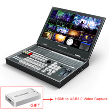 Avmatrix PVS0615 commutateur vidéo multi format Portable 6 canaux mélangeur SDI HDMI avec enregistrement 1080p