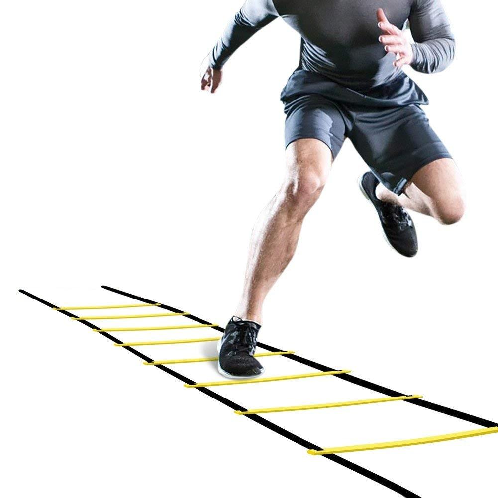 Outdoor Sport Agility Speed Jump Ladder Pace Training Football Training Rope Jump Lattice Ladder 4M Flexibility Speed Training