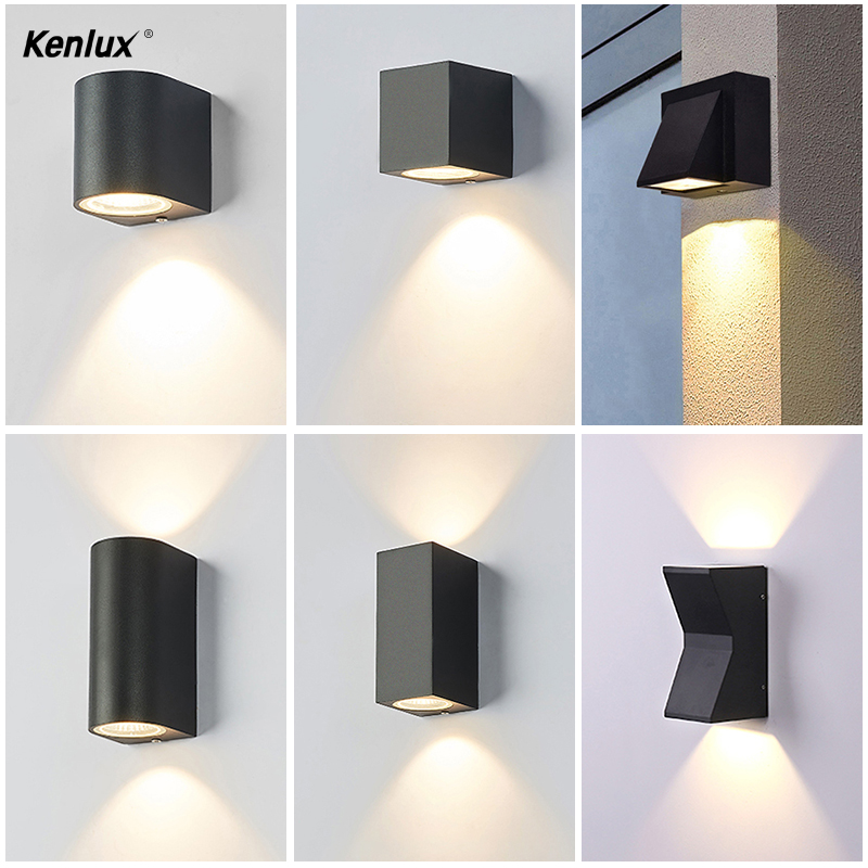 Light led wall lamp outdoor lights hotel modern simple creative outdoor waterproof garden wall light LED courtyard lamps