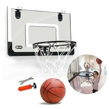 Детский подвесной баскетбольный обруч большого размера, настенная комнатная мини-корзина для баскетбола, набор игрушек с насосом