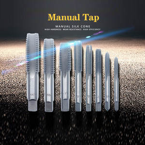 Hand-Tap-Drill-Set-Tools Screw-Thread Hss-Machine Metric-Plug Straight Spiral-Point Fluted