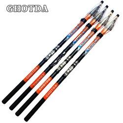 GHOTDA Carbon Fiber 2.7M 3.6M 4.5M 5.4M 6.3M Rock Fishing Rod Telescopic Rock Fishing Rod Carp Feeder Rod Surf Spinning Rod