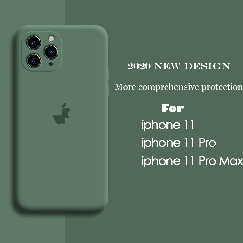 Liquid Silicone Case For IPhone 11 Pro Max Case Full Protector Case For IPhone XS MAX Cover Camera Case For IPhone X XR 7 8 PLUS