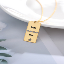 Engraved Word Pattern Necklaces Pendents Collares Truth & Dare Pendent Women Jewelry Accesorios Mujer Valentine Gifts For Couple candace havens truth and dare