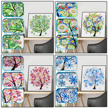 Diamond Embroidery Four Seasons Trees Picture Special Shaped Painting Needlework Rhinestone 5d Cross Stitch 30x30cm