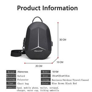 Image 2 - 2020 New Multifunction Shoulder Bag for Men Waterproof Short Trip Chest Bag Anti Theft Men Crossbody Bags Oxford USB Charging