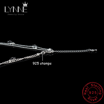 Newest Fashion 925 Sterling Silver Double Layer Small Ball Chain Anklet Lucky Clover Pendant Anklets Bracelet For Women Jewelry 4