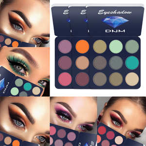 9 color eyeshadow makeup palette glitter matte gloss eyeshadow Diamond shining eyeshadow powder pigment cosmetics TSLM1