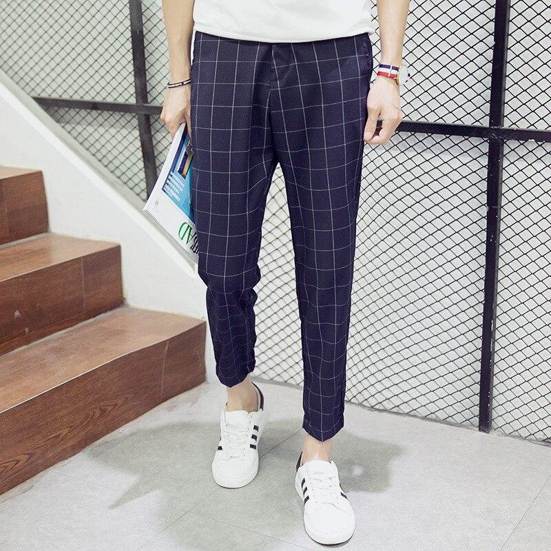 Purchasing Agents Supply Of Goods Capri Pants Men's Plaid Pants Skinny Pants Thin Baggy Pants
